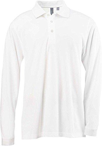 Ashworth Knit Shirt (Ashworth 1352 Men's EZ-Tech Long-Sleeve Polo - WHITE - Medium)