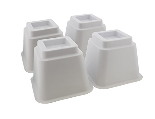 """7Penn Bed Riser Set of 5"""" Inch White Furniture Risers for"""