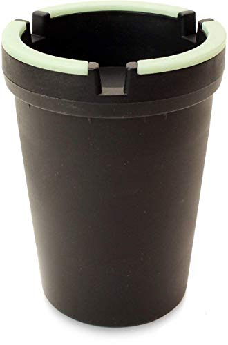 VIP Home Essentials Stub Out Glow in The Dark Car Cup Holder Style Self-Extinguishing Butt Bucket Ashtray (Black, Jumbo)
