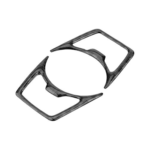 AjaxStore - Headlight Switch Frame Cover Trim 2Pcs Carbon Fiber Car Interior Headlight Switch Frame Cover Trim for Ford Mustang 2015-
