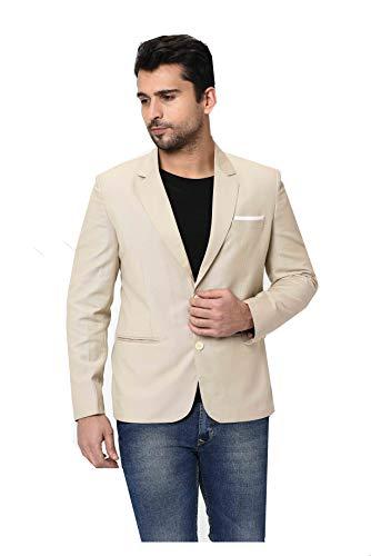 Nirwe Men's Slim Fit Stylish Blazer Poly Viscose Blazer for Casual/Formal