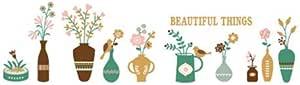 DIY قابل للإزالة لطيف الكرتون مزهرية الزهور الفن جدارية الفينيل للماء ملصقات الحائط غرفة المعيشة ديكور غرفة النوم ملصق صائق