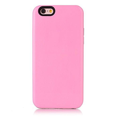 2-in-1 Glossy Mobile Phone Tasche Hüllen Schutzhülle - Case für iPhone 6s Plus / 6 Plus (PC + TPU) - Pink