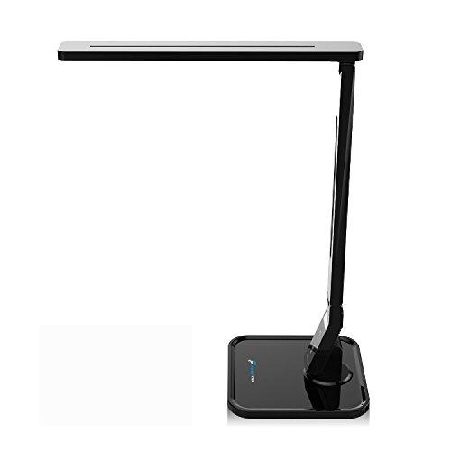 LED Table Desk Lamp Fugetek FT-768, 5-Levels of Brightness, Touch Control Panel, 550 Lumen, 1-Hour Auto Timer (Black) by Fugetek (Image #6)