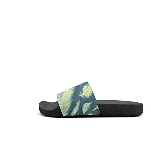 Green Feather Toe Slides And Blue Outdoor Womens Blue Flip Pattern Sandals Resilience Green Home Flop Open OPFq5xw