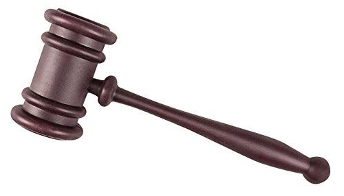Boland 00610 Plastic Judge Gavel Law Court Auctioneer Hammer Prop Fancy Dress Accessory 27cm Purple ()