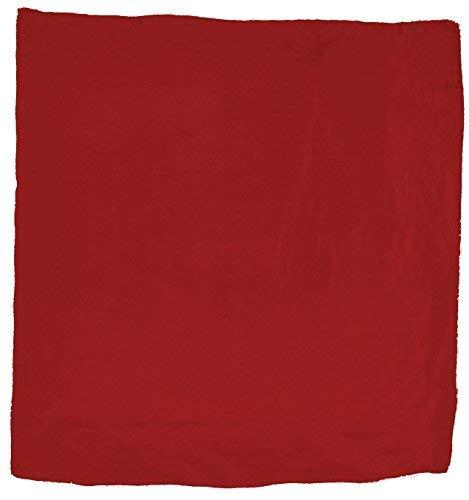 Wyoming Traders Mens Solid Silk Wild Rag Scarf - Red Rag