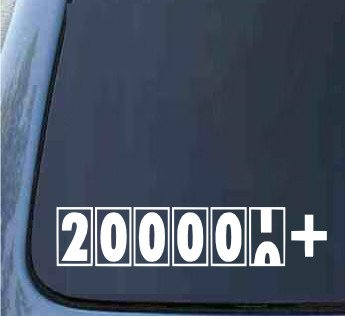 200,000 + Miles - JDM Sticker Decal import truck diesel 4x4 funny car vinyl