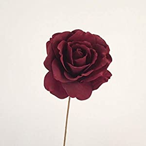 MARJON FlowersJumbo Luxury Single Foam Rose - Maroon - Artificial Flowers 120