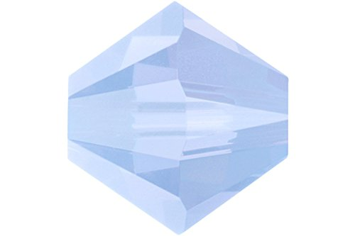 Bicone Beads Air - 36 pcs Swarovski Crystal Bicone 5328 Beads, Air Blue Opal, 6mm