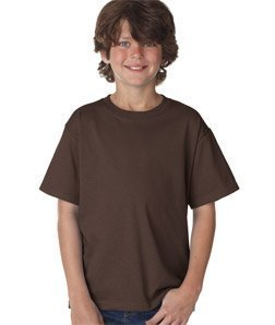 Fruit of the Loom Boys 5 oz.Heavy Cotton HD T-Shirt (3931B) -Chocolate -M -