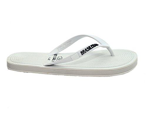Brasileras ROP - Chanclas unisex, color blanco, talla 37-38