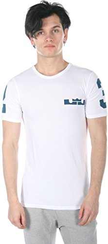 Nike [644566-101] Lebron Miami Print TEE Apparel T Shirt NIKEWHITE Blue ()