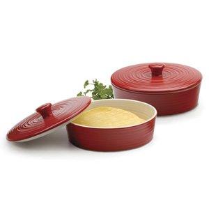 RSVP Red Stoneware Tortilla Warmer