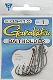 Gamakatsu 05410 Baitholder Loose Hook (8 Pack), Size 1, Black