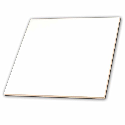 3dRose ct_159881_1 Pure White-Bright Colorless Plain Simple One Single Solid White Color-Ceramic Tile, - U 4 Tile Floors Ceramic