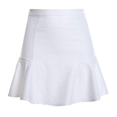 Sirne Mini Mesdames Ligne Soie Sirne Haute de Jupe Jupe Rockabilly Mousseline Jupe lgante Oudan Plisse Taille A Blanc en 8wdZnqp
