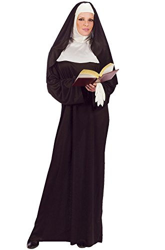 Mother Superior Costumes (FunWorld Mother Superior Nun, Black, One Size (Standard))