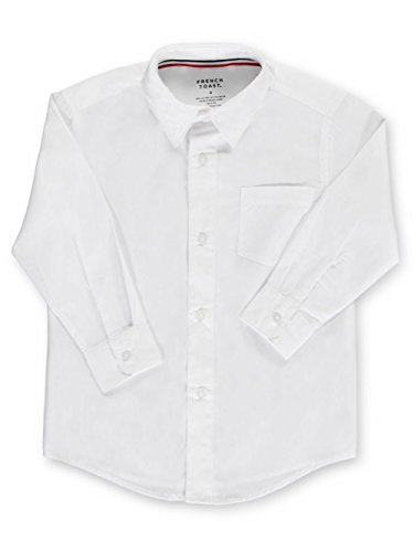 - French Toast Little Boys' Toddler L/S Button-Down Shirt - white, 4t