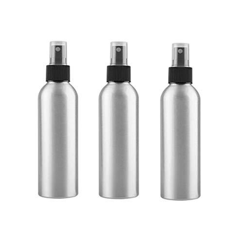 (3PCS 150ml/5oz Empty Refillable Silver Aluminum Fine Mist Spray Bottles Perfume Sprayer Atomizer Cosmetics Container Jar Pot Vials Holder for Moisturizing Makeup Water Toner Pure Dew Storage)