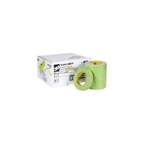 3M Scotch Performance Masking Tape 233+, 24 mm x 55 m, Sleeve of 6 (3M-26336) ()