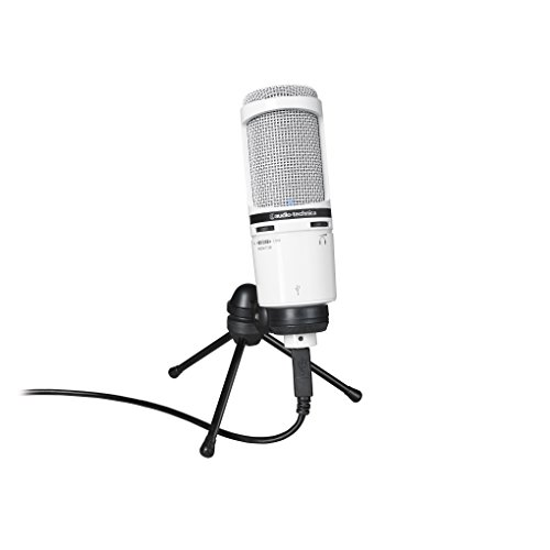 Audio-Technica AT2020USB+ Cardioid Condenser USB Microphone, White