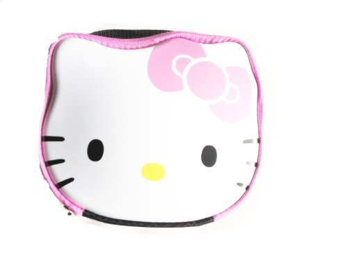Hello Kitty Shaped Hard Top Pink Bow Lunch Tote Box Bag by -