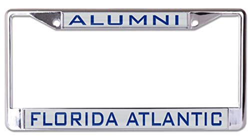 WinCraft Florida Atlantic University Owls Alumni Premium License Plate Frame, Chrome Plated Metal with Inlaid Acrylic from WinCraft