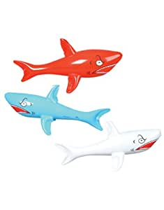 """Rhode Island Novelty 24"""" Inflatable Sharks Toy (3 Piece)"""