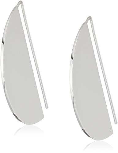 Half Moon Dangle (Dear Drew by Drew Barrymore Womens Half Moon Drop Earrings, Silver)