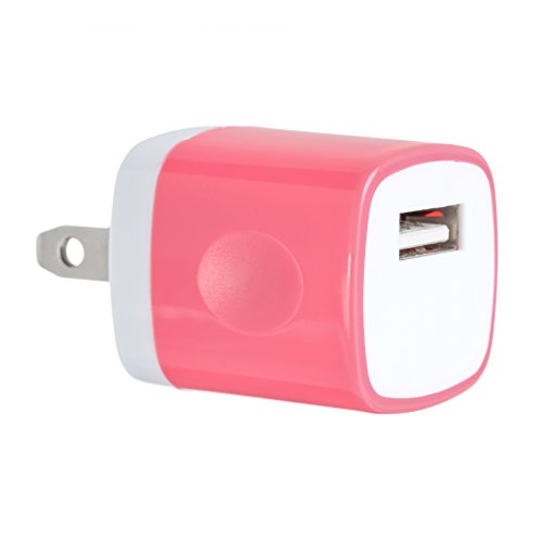 UPC 759883701794, 1PC Hot Pink Universal USB Port Colors USB AC/DC Power Adapter Home Wall Charger Plug W/ Easy Grip for iPhone 7/7 plus 6/6 plus Samsung Galaxy S5 S4 S13¡