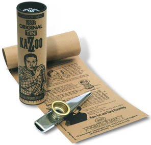 Clarkes Xl Silver Tinplate Kazoo in Beautiful Gift Packaged Tube and History Sheet