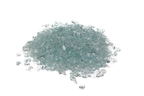 (Galaxy Glass Size 1 Sea Foam 1 lb- Crushed Glass for Decorations, Crafts, Vase Filler, Terrarium, Sea Glass, Fish Tanks, Garden, Fusing, Crystals)