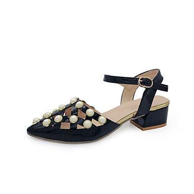 YFF La plate-forme des femmes Sandales Imitation Pearl Beige noir marcher,Black,US5.5 / EU36 / UK3.5 / CN35
