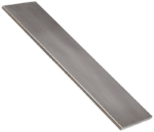 "1018 Carbon Steel Rectangular Bar, Unpolished (Mill) Finish, ASTM A108, 3/16"" Thickness, 1/2"" Width, 72"" Length"
