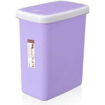 Amazon Com 6 Color Plastic Trash Can Kitchen Bathroom