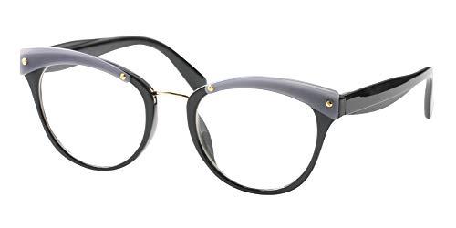 d768e020cae4 SOOLALA Womens Designer Cat Eye Reading Glass Large Prescription Eyeglass  Frame