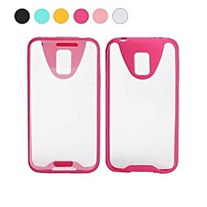 ZL Solid Colour PC Hyaline Full Body Case for Samsung S5/I9600 (Assorted Colors) , White