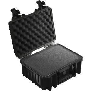 B&W International 3000/B/RPD 3000 Outdoor Case with RPD Insert Durable Type, Black