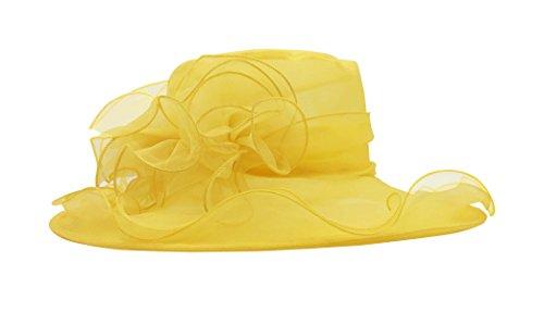 (Nanxson Ladies Sun Hat Church Wide Brim Vintage Tea Party Wedding Flower Derby Cap)