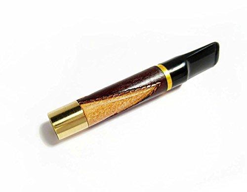 Engraved Vintage Short Short Cigarette Holder Wood Hand Carved 2.7'' / 70 Mm Fits .....Regular Cigarettes.....