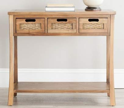meet a402f 179bc Amazon.com: Narrow Console Table Oak Wood Skinny is Perfect ...