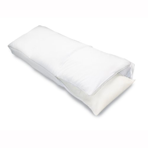 "- Sleep Innovations Embrace Memory Foam Body Pillow with Microfiber Cover, Made in the USA with a 5-Year Warranty - 54"" Long"