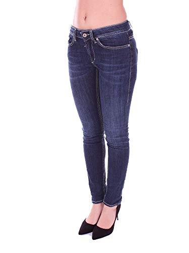 Jeans Bleu DONDUP Coton P692DS112DP58PDHBLUE Femme wqITgIZx