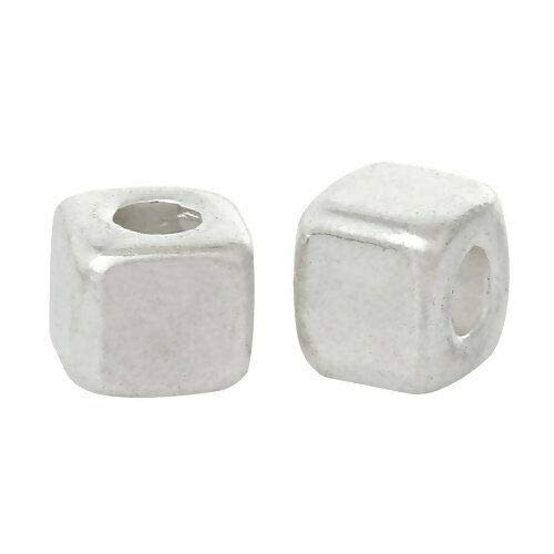 1000 Tibetan Antiqued Silver 3mm Square Box Cube Spacer Accent Beads
