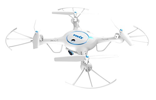 Yanni-SYMA-X5UW-24Ghz-RC-QuadcoptersHeadless-Wifi-FPV-Drones-Multirotors-With-720P-HD-Camera-Flight-Plan-Route-Setting-Altitude-Hold-Function-Bonus-Battery-IncludedWhite