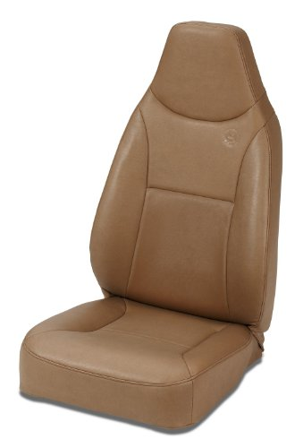 Bestop 39436-37 TrailMax II Spice Front High Back Vinyl All-Vinyl Single Jeep Seat for 1976-2006 Jeep CJ and ()