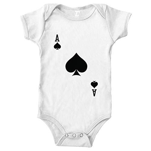 Playing Card - Heart Spade Club Diamond Bodysuit (White, 12 Months)]()