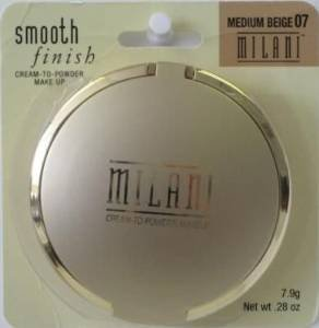 Milani Smooth Finish Oil Free Cream-to-Powder Makeup, Medium Beige [07] 0.28 oz (Pack of 2)