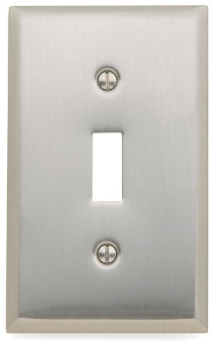 Baldwin 4751.150 Single toggle Satin Nickel Switch